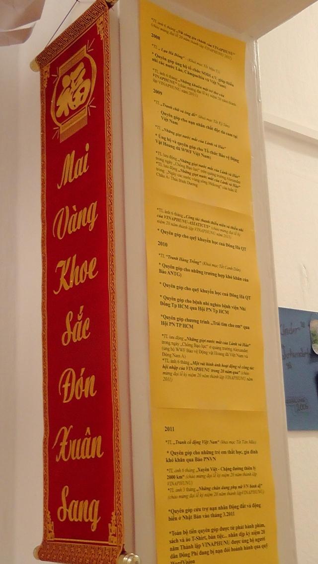 """Một góc CLB ngày Tết- """"Những triển lãm và các hoạt động từ thiện cuả vINAPHUNU trong suốt hơn 20 năm qua"""